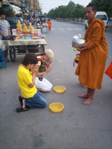 Giving to the Monks Chiang Mai