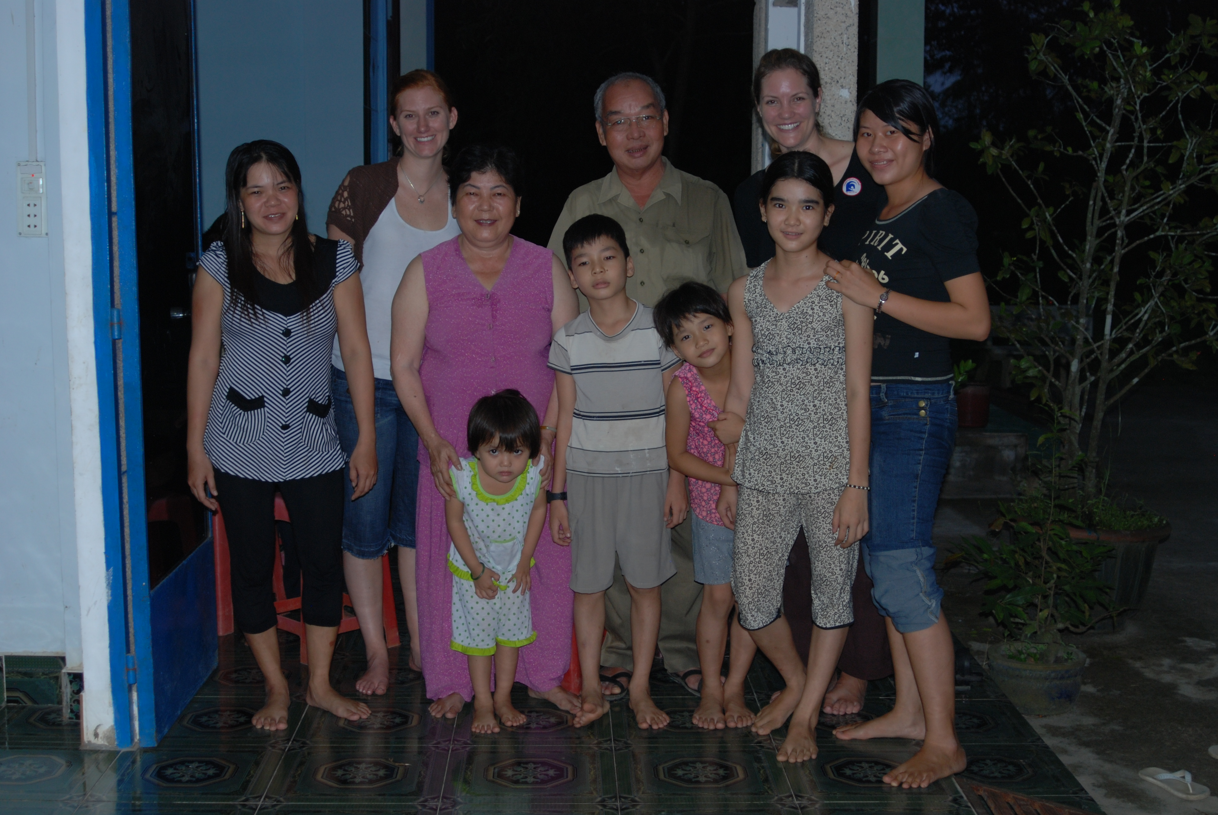 With Mr Nam and his family