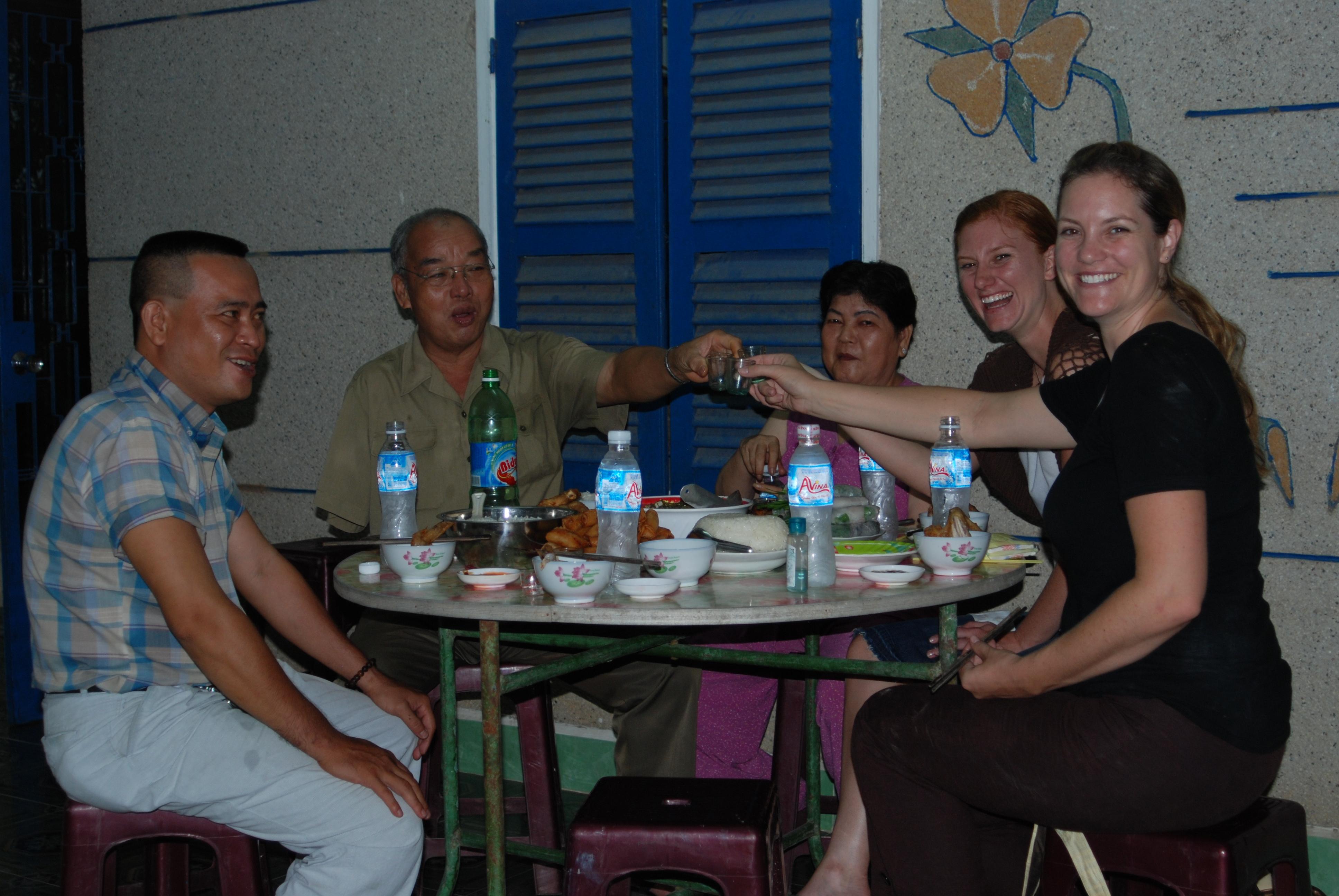 Yo! (Cheers in Vietnamese)