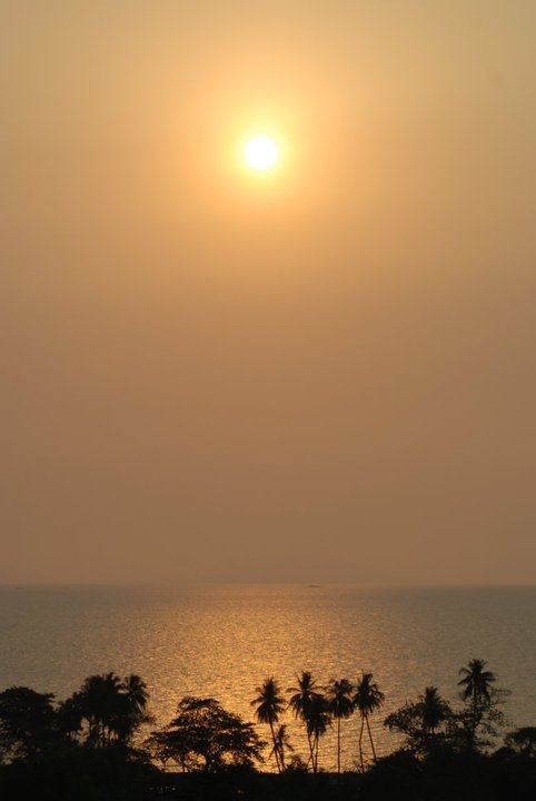 2011 sunset in kep