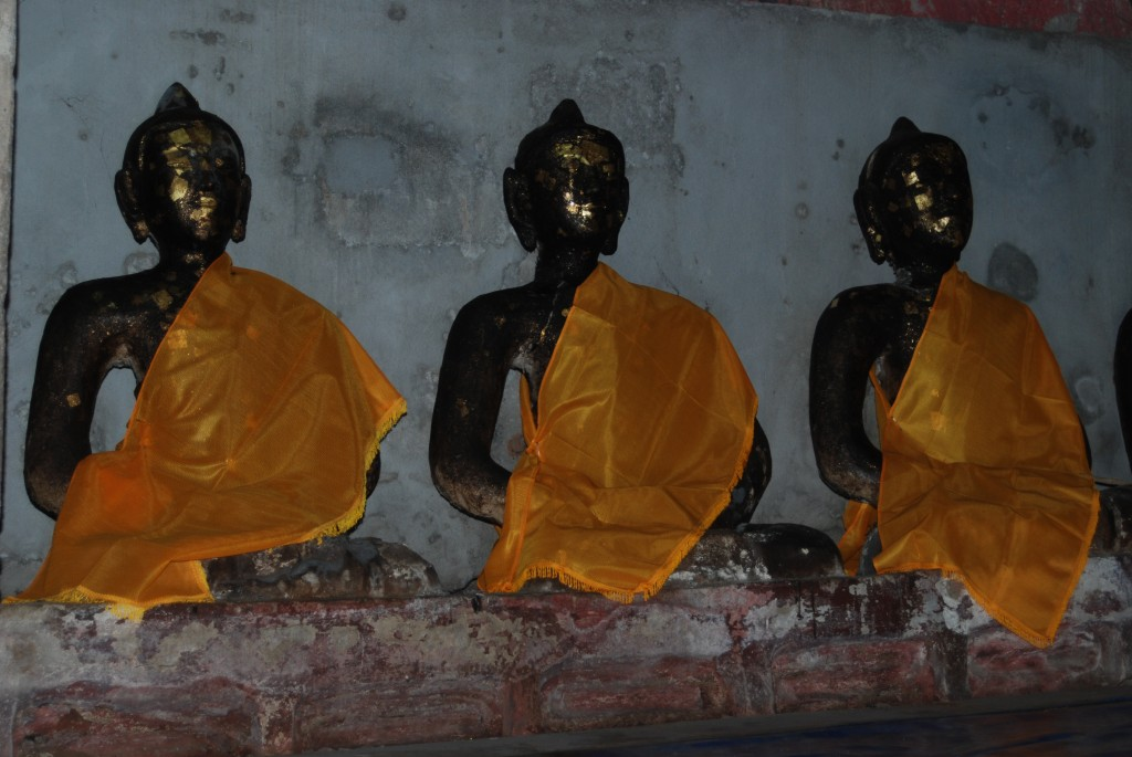 Buddha images inside the caves
