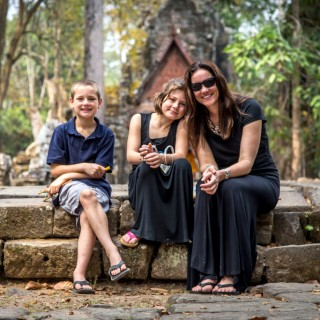 Family travels in Cambodia