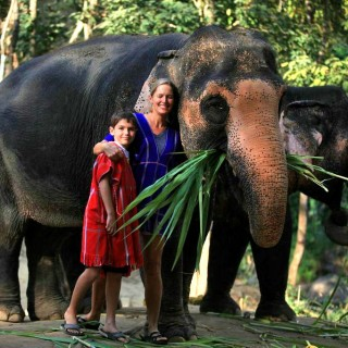 Family adventures in Thailand with elephants