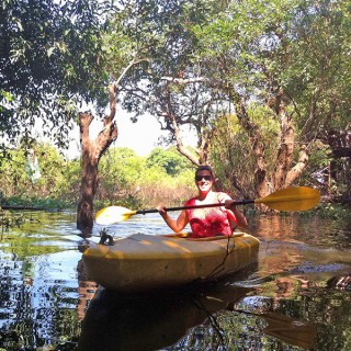 Kayaking in Tonle Sap, Cambodia
