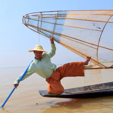 Fisherman on Inle Lake, Myanmar