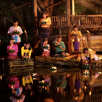 Loi Krathong Festival for families
