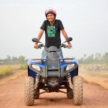 Quad biking in Siem Reap, Cambodia