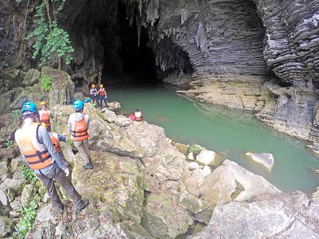 Vietnam cave mouth near Phong Nha
