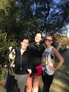 (From left to right) Courtney, Andrea, and April of the Journeys Within Truckee, Calif. office. Daisy, our Boston Terrier, was there too!