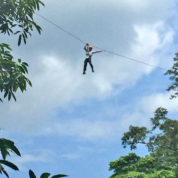 Zipline tour above Cambodian forest