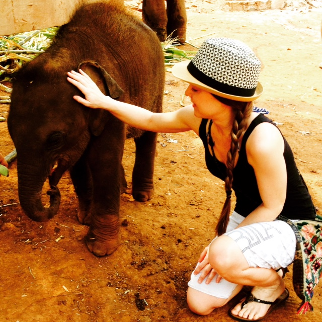Kena at Patara Elephant Farm.