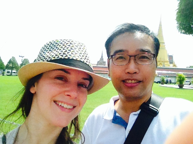Kena, from the US Journeys Within office and Guide Ron, from the Bangkok office.