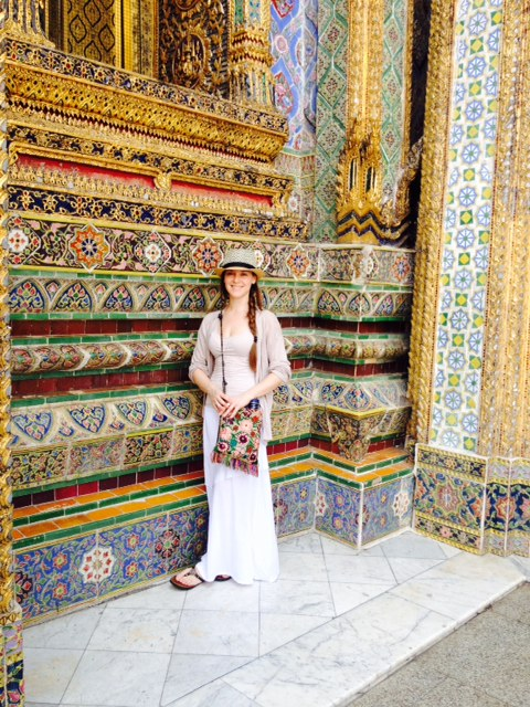 Kena Cataneso at the Grand Palace in Bangkok