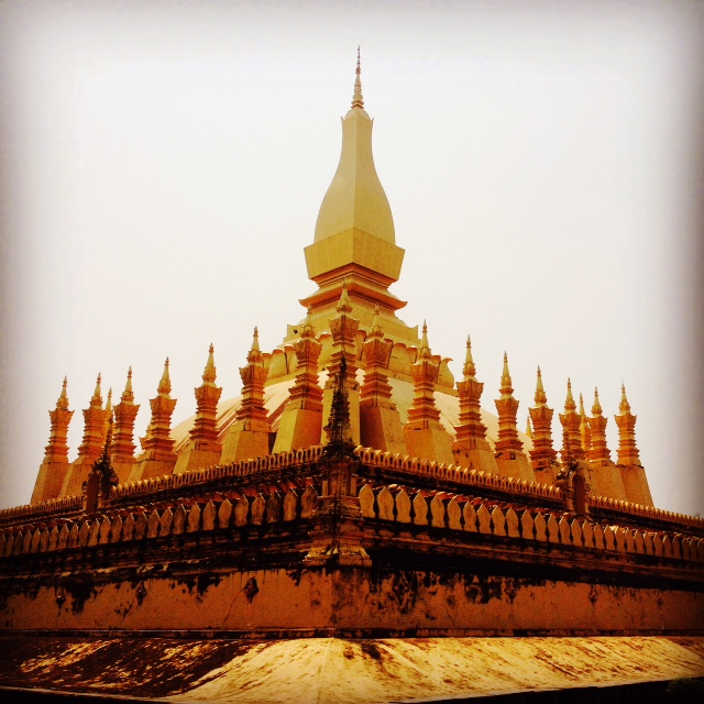 The Golden Stupa (Pha That Luang) in Vientiane, Laos.