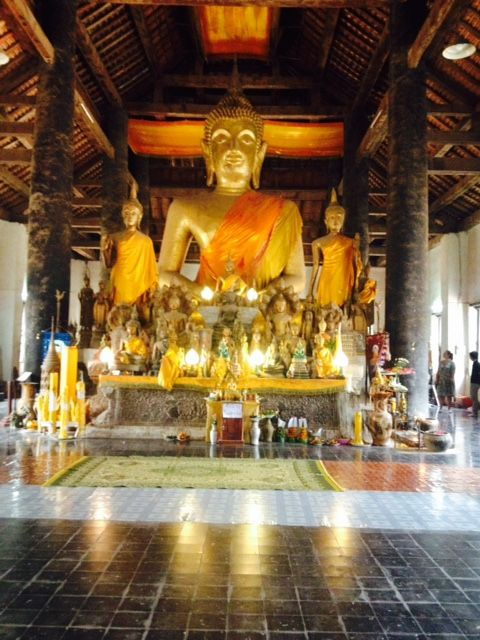 One of many temple interiors in Luang Prabang, Laos.
