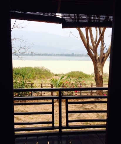 The view of the Mekong River from a La Folie Lodge guest room on Khong Island, Laos.
