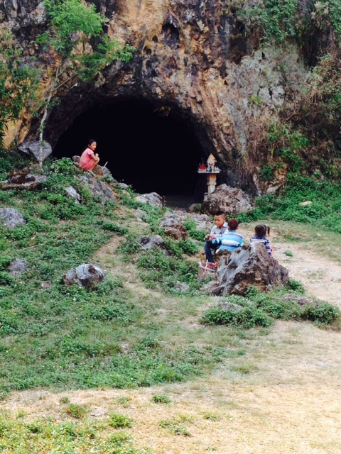 An ancient man-made cave located at the Plain of Jars.