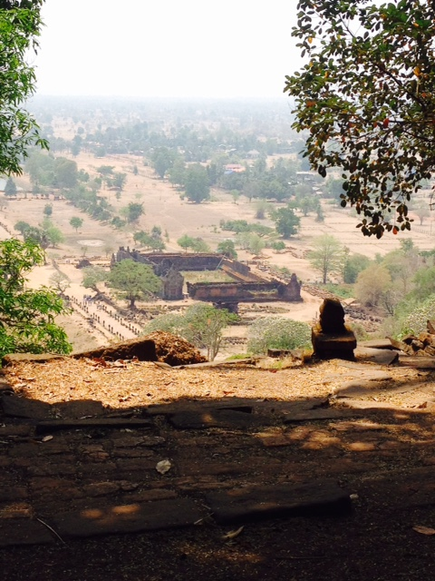 The view from Vat Phou near Pakse in Laos.