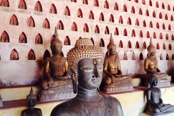 Wat Si Saket in Vientiane, Laos, houses over 2000 Buddha images.