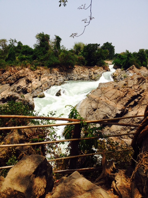 One of the many waterfalls to be seen throughout Don Det, Laos.