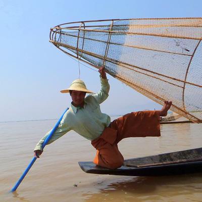 Fisherman at Inle Lake