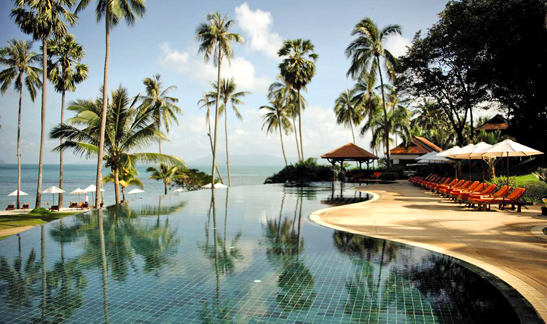 Thailand luxury hotel pool