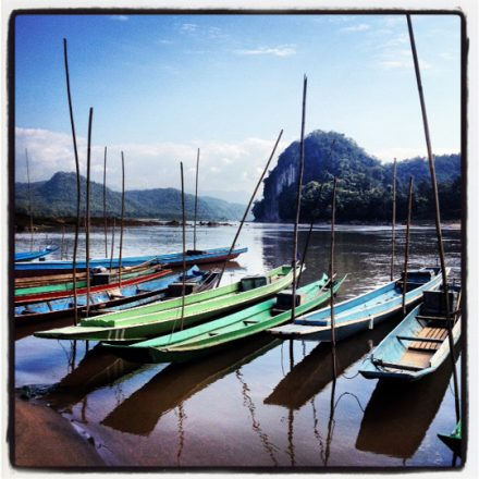 Boats on the Mekong River